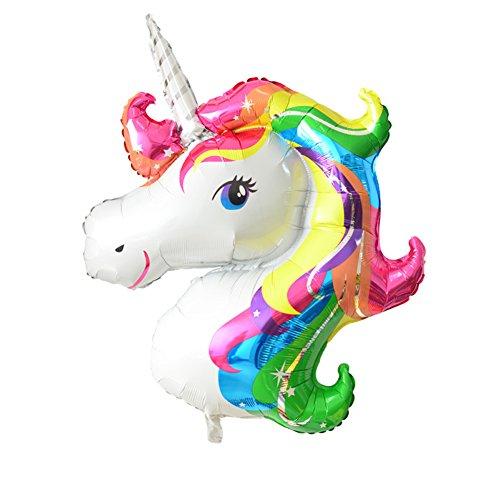 [FindFun 33'' Unicorn Foil Balloon Animal Horse Decor for Birthday Baby Shower Party Wdding Child Toys] (Disney Princess Wedding Invitations)