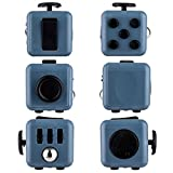 Omaky Fidget Cube Relieves Stress and Anxiety for Children and Adults Attention Toy, Blue Black