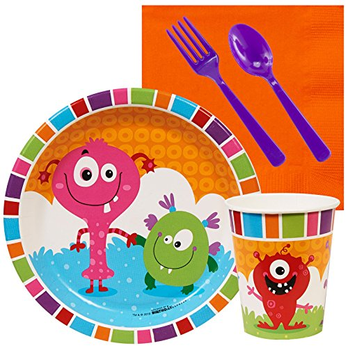 Aliens and Monsters Party Supplies - Snack Party Pack (Monster Inc Party Tablecover compare prices)