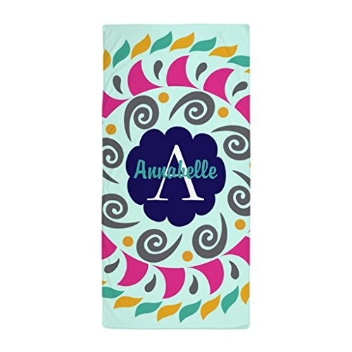 HANHAOKI Personalized Name Monogram Beach Shower Towel 28