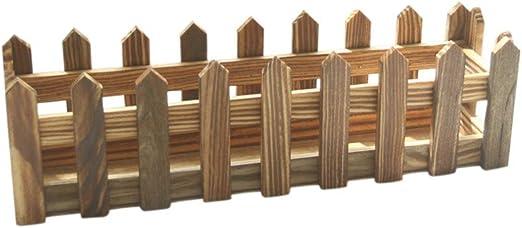 FiedFikt - Valla de madera con jarrón para decoración de jardín, D ...