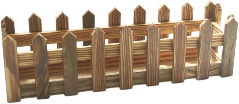 FiedFikt - Valla de madera con jarrón para decoración de jardín, D: Amazon.es: Hogar