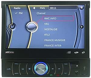 Takara RDV1667BT - Radio de coche multimedia, color negro (importado)