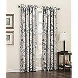 "Sun Zero 43520 Kara Energy Efficient Rod Pocket Curtain Panel, 54 x 84"", Stone Beige"