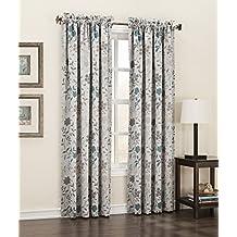 "Sun Zero 43519 Kara Energy Efficient Rod Pocket Curtain Panel, 54 x 63"", Stone Beige"