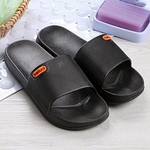 Intérieur Pantoufles Noir 2 Hommes Salle Jiyaru Bain De Maison Été Slip Non Extérieur Sandale Chaussures awdCnCvq