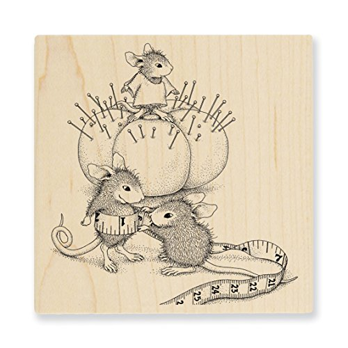 Stampendous HMQ20 House Mouse Wood Stamp, Tiny Tailor