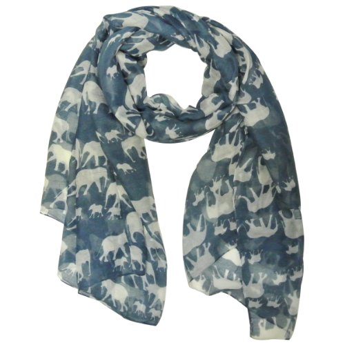 Wrapables Elephant Print Scarf Wrap