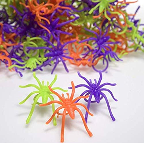 Fun Express Colorful Halloween Spider Rings - 144 Pieces -