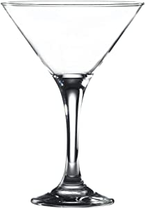 Vikko Martini Glasses, 6 Ounce | Perfect for Parties, Weddings, and Everyday – Thick and Durable Construction – Dishwasher Safe – Set of 6 Clear Glass Martini Glasses