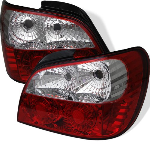 Spyder Auto Subaru Impreza Red Clear LED Tail (Impreza Clear Body)