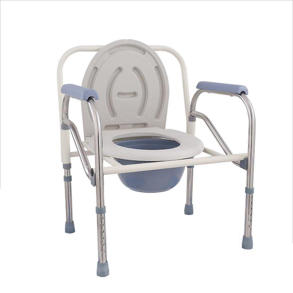 高齢者のためのトイレ妊娠中の女性の便器の椅子高齢者の腸のチェアトイレチェアトイレチェア便利な椅子折りたたみ可能な白 B07C2Q3WJC