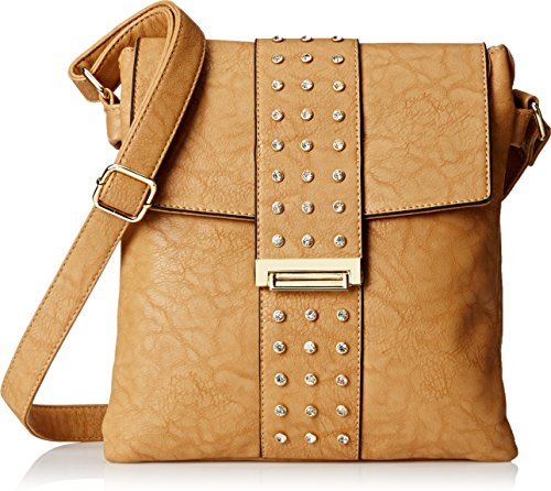 MG Collection Carlota Satchel Travel Cross Body Bag Khaki One Size