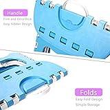 QPOWER 3 packs Portable Plastic Folding Step Stool
