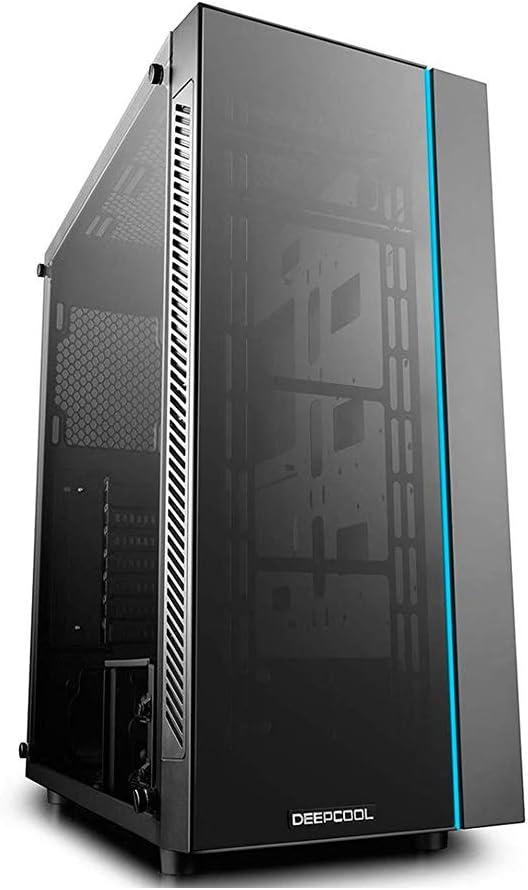 DeepCool MATREXX 55 Boîtier Midi-Tour Noir - Unités centrales (Boîtier Midi-Tour, PC, Plastique, SPCC, Verre trempé, Noir, ATX,EATX,Micro ATX,Mini-ITX, 16,8 cm)