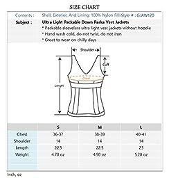 Ultra Light Packable Down Parka Vest Jackets 120-White US M