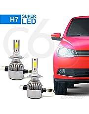 Par Lâmpadas Automotiva H7 Super Led C6 Cooler 6000k 7200 Lumens Full Branca