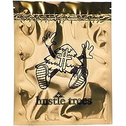 Hustle Trees Men's HT Medium Foil Zip Lock Bag, Gold, 10