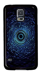 Samsung Galaxy S5 Abstract Blue Space Orb PC Custom Samsung Galaxy S5 Case Cover Black