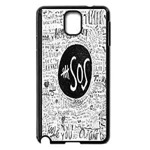 Unique Phone Case Design 55SOS Music Band Series- For Samsung Galaxy NOTE4 Case Cover