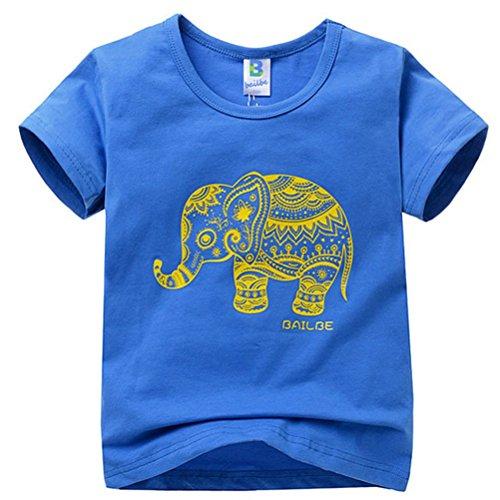 Little Hand Little Boys' Comic Tees Elephant Printed Blouse T-shirt Tops 2-7Y