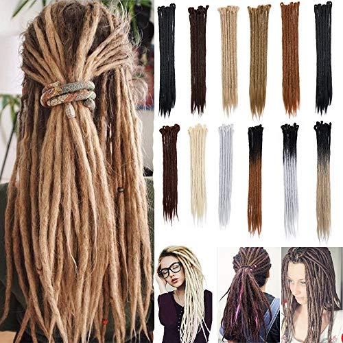 100% Handmade Dreadlocks Extensions Fashion Reggae Hair 20 Soft Faux Locs Crochet Havana Mambo Twist Braiding Hair Ombre Color For Women/Men