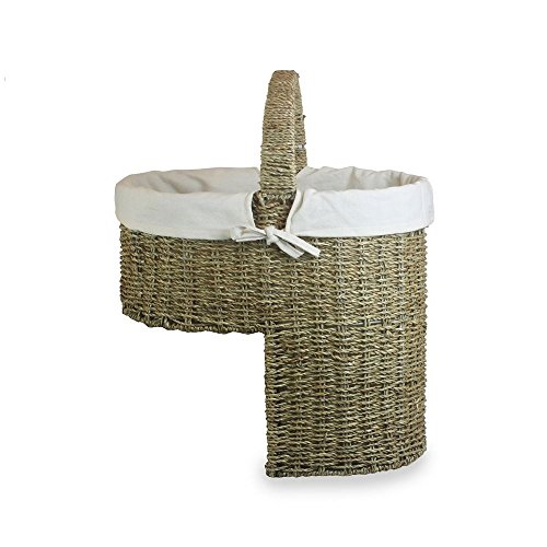 Seagrass White Cotton Lined Stair Basket by Red Hamper