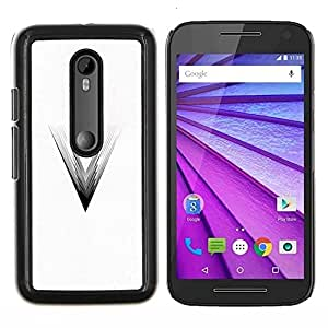 All Phone Most Case / Oferta Especial Duro Teléfono Inteligente PC Cáscara Funda Cubierta de proteccion Caso / Hard Case Motorola Moto G3 3rd Gen // V Movie Black White Triangle