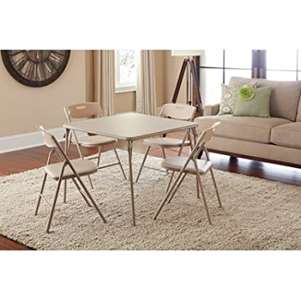 Amazon.com - Cosco 5-Piece Folding Table and Chair Set, Multiple ...