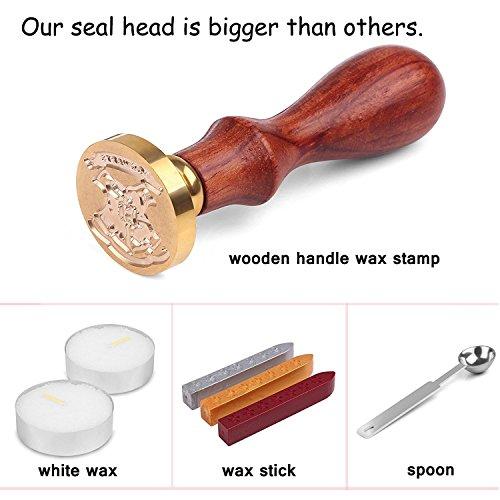 Powstro Stamp Seal Sealing Wax Kit Retro Classic Vintage Maker Stick