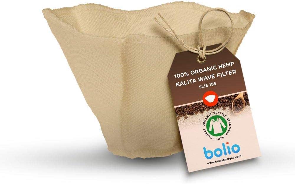 Bolio Reusable Kalita Wave Filters - 100% Organic Hemp Cloth Filter (Size 185/1 pack)