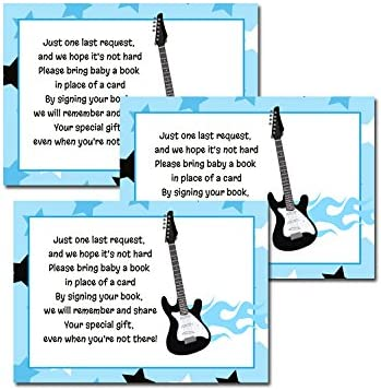 Guitarra Rock Star Baby Shower Libro Tarjetas de solicitud 20-Pack ...