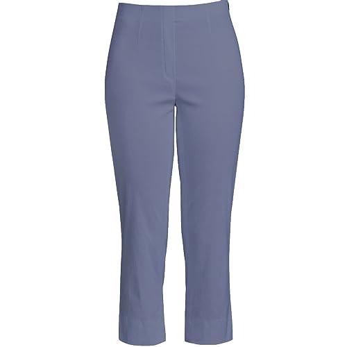 Robell – Pantalón – Capri – Básico – para mujer Stahlblau 38