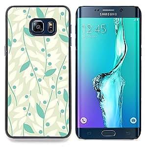 - White Grey Vines Leaves Grape/ Duro Snap en el tel????fono celular de la cubierta - Cao - For Samsung Galaxy S6 Edge Plus