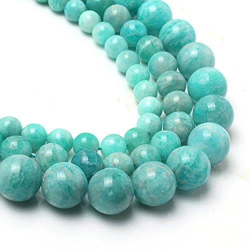 Love Beads Genuine Amazonite Beads 6 mm Round Loose Gemstone