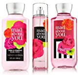 Bath & Body Works Mad About You Set, Body Lotion 8 Oz, Shower Gel 10 Oz & Fragrance Mist 8 Oz