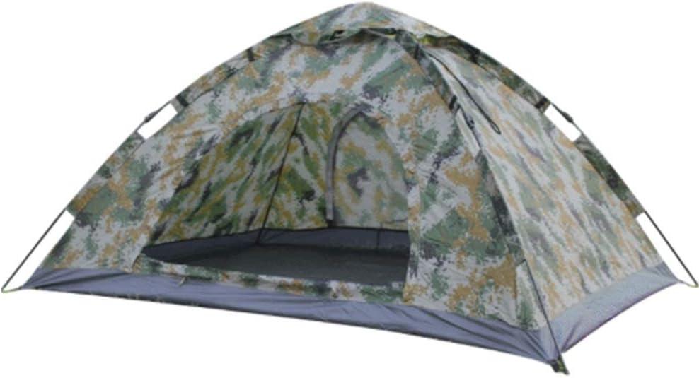 キャンプテント 自動クイックオープンアウトドアキャンプカモ超軽量テント 防風 防水 キャンプ用品 設営簡単 (Color : Camouflage, Size : 200x150x100cm)