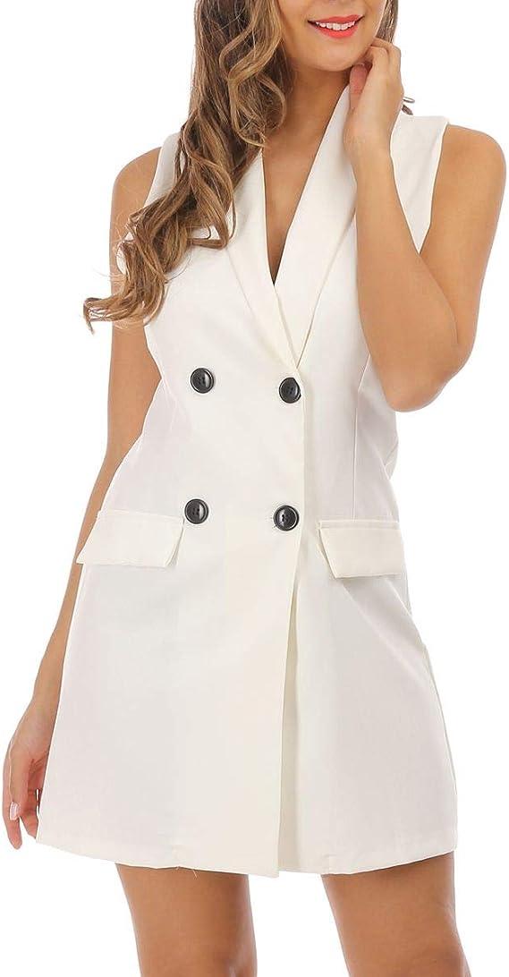 La Modeuse Robe Blazer Sans Manches Amazon Fr Vetements Et Accessoires