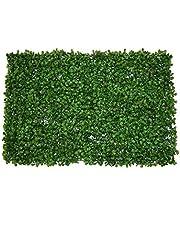 نباتات زينة صناعية بلاستيكية ثلاثية الابعاد بتصميم اوراق الكينا لتزيين الجدران وتنسيق الحدائق، اخضر