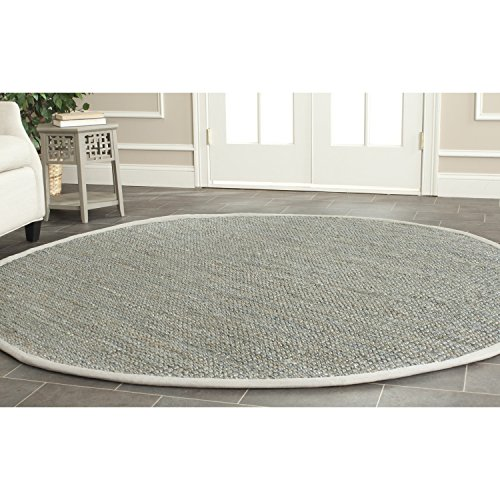 Safavieh Natural Fiber Collection NF730B Hand Woven Grey Jute Round Area Rug (4' (Round Fiber)