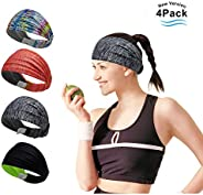 Headband Sports Sweatband for Men and Women Outdoor Running Cycling Yoga Gym Fitness Travel Non Slip Design &a