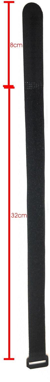 100cm - 5pc fascetta riutilizzabile in nylon KKS10005 nero larghezza 20 mm 5x Gancio e passante 100cm con fibbia