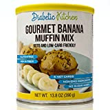 Diabetic Kitchen Muffin Mixes For Bakery Fresh Muffins That Are Low-Carb, Keto-Friendly, No Sugar Added, Gluten-Free, High-Fiber, Non-GMO, No Artificial Sweeteners (Gourmet Banana)