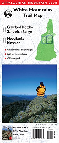 AMC Map: Crawford Notch-Sandwich Range And Moosilauke-Kinsman: White Mountains Trail Map