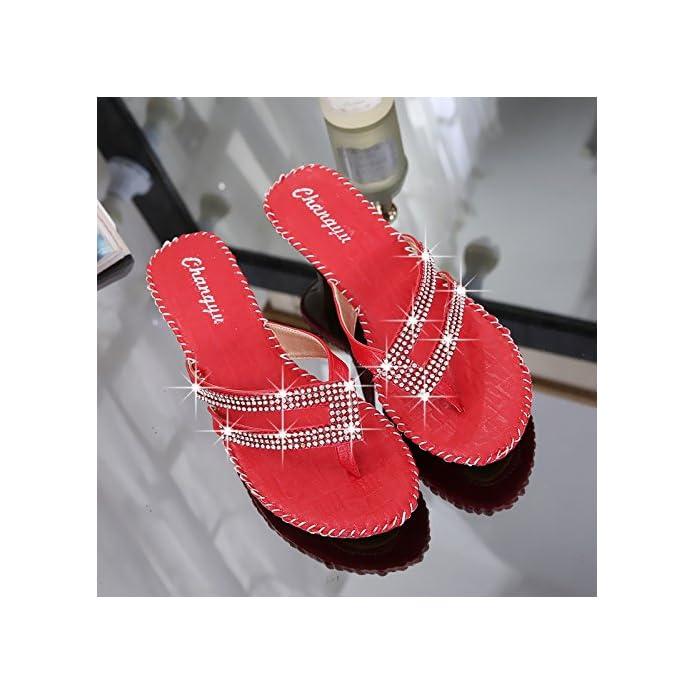 Agganciare Il Perno Sandali Donne In Estate E Acqua Di Spessore Foratura Con Graffe Raffreddare Le Pantofole Moda La Dimensione Del Codice Abbigliamento 38 337-1 Rosso