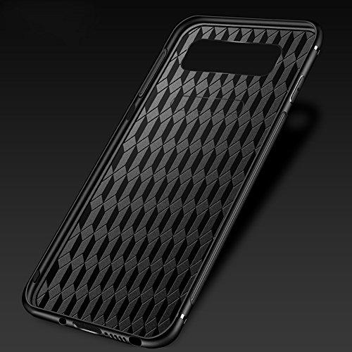 Tempered Glass Cover para Samsung Galaxy Note 8, Vandot 3D 9H Vidrio Cristal Templado + TPU Silicona Bumper Completo Borde Curvo Cubierta de la Caja Lujo Pintado Funda Protector para Samsung Galaxy No Glass 3 -12