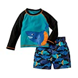 Child Of Mine By Carters Baby Toddler Boys Long Sleeve Rash Guard Swim Set Sharks (12M)