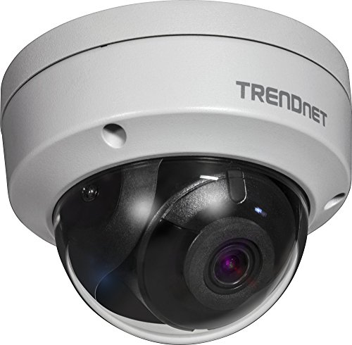 - TRENDnet Indoor/Outdoor 4 Megapixel HD PoE IR Dome Style Day/Night Network Camera, Digital WDR, 2688 x 1520p, IK10 Vandal Proof, IP66 Rated Housing, 100ft. Night Vision, ONVIF, IPv6, TV-IP315PI