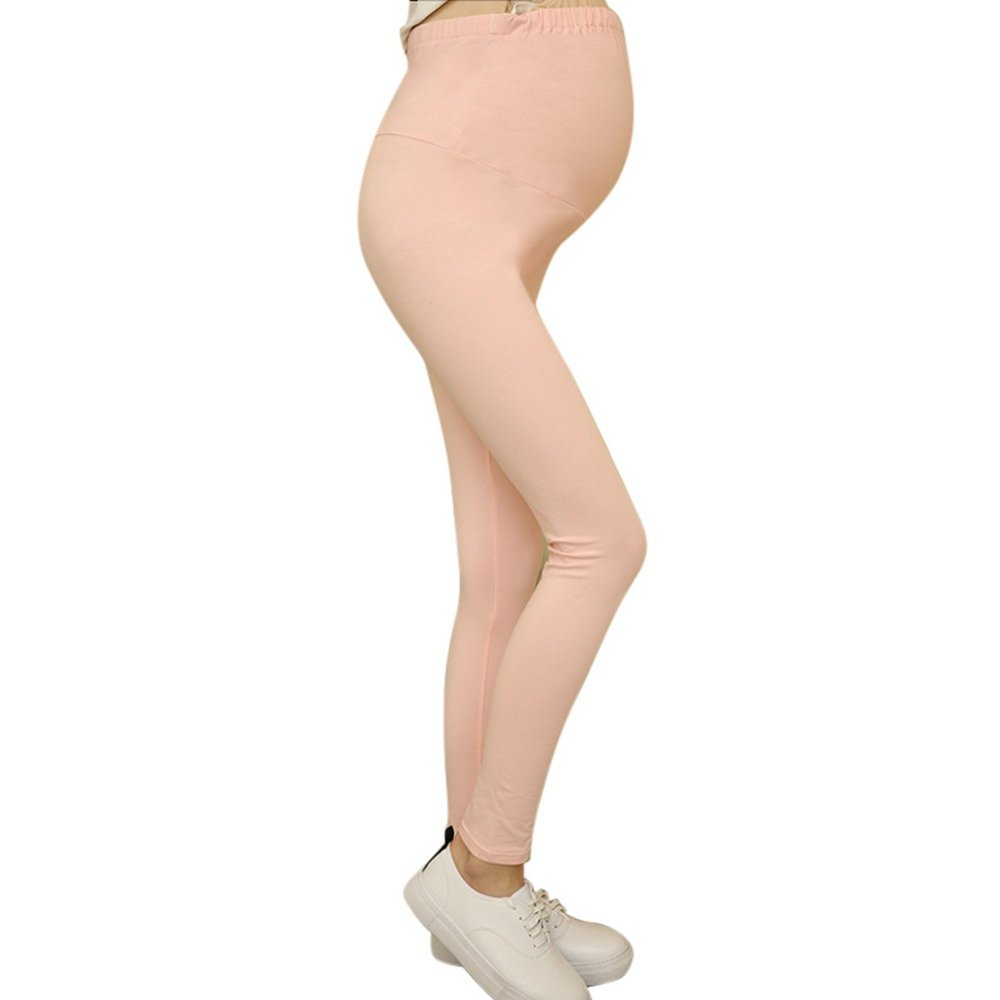 Bonboho Women's High Elasticity Adjustable Waist Maternity Pregnant Leggings Pants