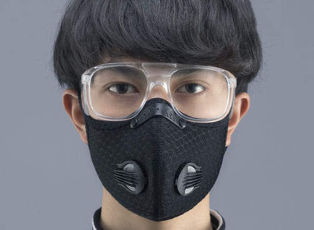 Máscara de Deporte con Capucha y protección Facial para Hombre, Resistente al Viento, antiempañamiento, Transpirable, Incluye Gafas de protección y 3 Elementos de Filtro